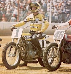 Yamaha World Champion Kenny Roberts Flat Track Racing...