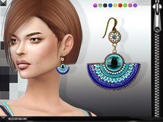 Sims 4 CC's - The Best: Erin Earrings by MissFortune