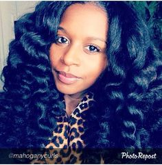 Mahogany Curls- Curling Wand on Blown Out Hair