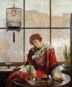 Joseph Rodefer De Camp - The Red Kimono, 1919