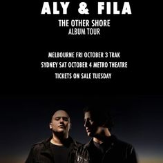 @alyandfila return to Australia this October! Tix on sale Tuesday 10am #AlyandFila #TheTranceProject #Trak #MetroTheatre #TranceProject #TranceFamily #TranceHead #Trance #TranceMusic #Stereosonic #Stereosonic2014 #TranceAddict #FSOE #ArmadaMusic #Stereosonic Check more at…