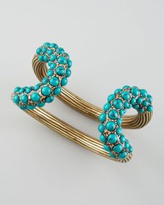 Turquoise-Encrusted Cuff by Giles & Brother at Neiman Marcus