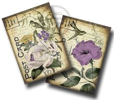 Printable Vintage Botanicals 5 x 7  Digital by EphemerasGarden, $4.75 - for Christina's room