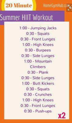 Summer HIIT Workout | Posted By: AdvancedWeightLossTips.com