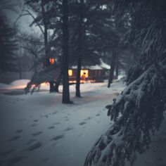"Cozy Cabin by Chris Schoenbohm on 500px: ""Cabin in the northern woods of Wisconsin during a snowstorm."""