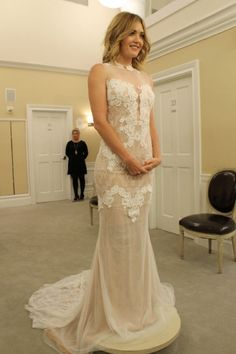 Amy Purdy wedding dress- my favorite! Cute Wedding Dress, Wedding Attire, Wedding Gowns, Elegant Dresses, Beautiful Dresses, Dress Name, My Perfect Wedding, Dresses For Less, Bridal Musings