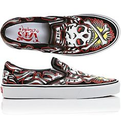 vans slip on oliver peck Famous Tattoo Artists, Things To Buy, Stuff To Buy, Vans Slip On, Casual Sneakers, Personal Style, My Style, Classic, Skulls