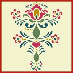 Rosemaling, kurbit stencils from Norway and Sweden