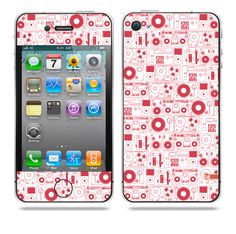 Evolution of Audio Red iPhone skin by TAJTr