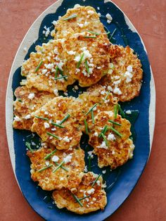 Cheesy, Buttery Jalapeno Corn Cakes http://www.spoonforkbacon.com/2018/06/cheesy-buttery-jalapeno-corn-cakes/