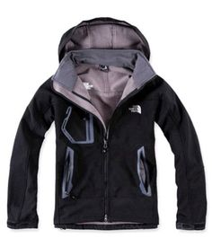 a9a9adb53c North Face Mens Windstopper Jacket Black Light Gray North Face Hoodie