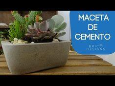 Cómo hacer macetas decoradas con yeso y piedras naturales paso a paso - YouTube