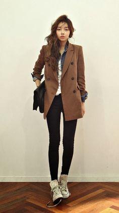 Korean daily fashion korean fashion tomboy, korea fashion, korean w Korean Fashion Tomboy, Korean Fashion Winter, Korean Fashion Trends, Korean Street Fashion, Korea Fashion, Asian Fashion, Look Fashion, Daily Fashion, Autumn Fashion