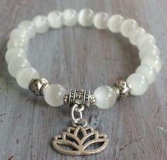 Lotus Flower Bracelet Boho Beaded Bracelet Boho by indietiez