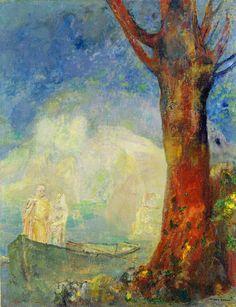Odilon Redon,The Barque
