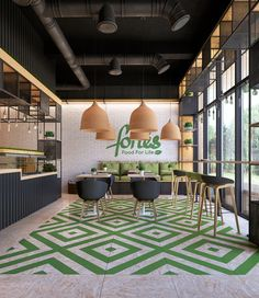 Clean food cafe Fortes on Behance