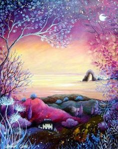 Amanda Clark: Art Gallery – Non-Duality America Clark Art, Illustrator, Pagan Art, Photo D Art, Encaustic Art, Wow Art, Art Graphique, Naive Art, Angel Art