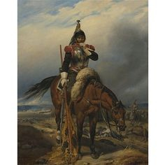 Paul Delaroche , French 1797-1856 The Field of Battle oil on canvas