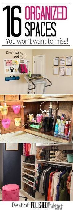 Organization Ideas For Almost Every Room! Control clutter WITHOUT becoming a minimalist with the top 16 organizing ideas #cluttercontrol #organizationideas
