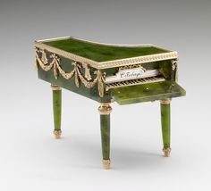 Faberge, Miniature Piano, Miniature piano in the Louis XVI Style Creator… Lausanne, Decoration, Art Decor, English Royal Family, Royal Collection Trust, Messy Nessy Chic, Faberge Eggs, Imperial Russia, Objet D'art