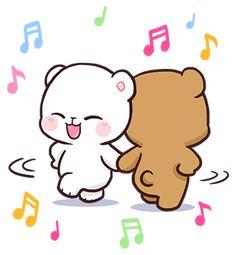 Cute Bear Drawings, Cute Couple Drawings, Cubs Wallpaper, Wallpaper Iphone Cute, Cute Cartoon Pictures, Cute Love Cartoons, Save Water Poster Drawing, Love Wallpapers Romantic, Bear Gif