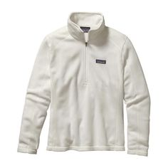 Patagonia Women's Micro D Quarter Zip Fleece- Birch White