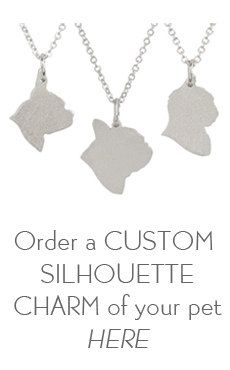 Custom Pet Jewelry  Dog Charm Necklace  Sterling by silhouPETte, $167.00