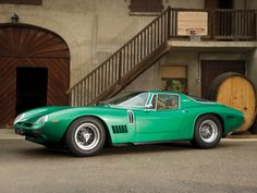 The Bizzarrini 5300GT Strada is simply gorgeous. Bizzarrini pushed the heavy V8 far back into the engine bay as possible. When combined with the side-mounted gas tanks the weight balance of the 5300 was very close to a perfect.