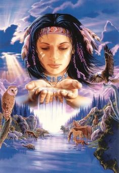 Every kit gives you a chance to create a work of art you can be proud of. This diamond painting kit American Indian Girl, Native American Wolf, Native American Paintings, Native American Pictures, American Indians, Indian Pictures, Art Indien, Native American Spirituality, Arte Pop