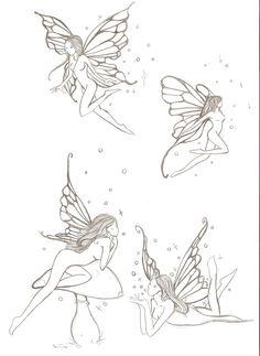 fairies e. by ~ellys-vr on deviantART tattoo fairies e. by ellys-vr on DeviantArt Fairy Tattoo Designs, Tribal Tattoo Designs, Tattoo Designs For Women, Gothic Fairy Tattoo, Faerie Tattoo, Tattoo Hada, Small Fairy Tattoos, Elfen Tattoo, Fairy Drawings