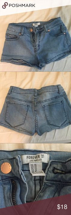 New forever 21 jegging shorts Never worn, super soft & stretchy! Too small for me. Cute for summer! Forever 21 Shorts Jean Shorts