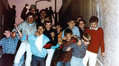 A gang of boys on a subways steps in Leeds Football Casuals, Football S, Sergio Tacchini, Youth Subcultures, Acid House, Leeds United, Post Punk, White Girls, British Style
