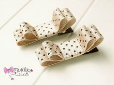 Hair clips mini bows set of 2 by Momilio on Etsy, $6.00