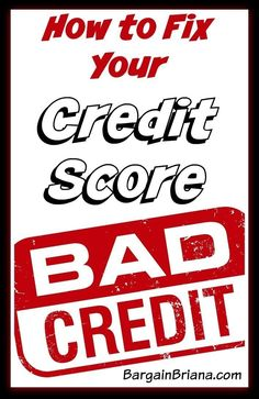 How to Fix Your Credit Score Credit Scores, #CreditScores