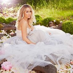 LC Lauren Conrad Runway Collection, Look 37 - natural waist sweetheart neckline strapless with lavender tulle skirt