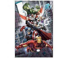 Marvel Avengers Fleece plaid grijs 100x140cm