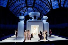 Interesting fashion shows - The runway at the Chanel spring haute couture show in Paris 2009