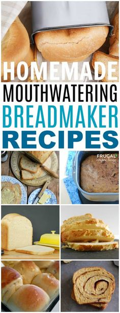 The best Breadmaker Recipes on Frugal Coupon Living. Our round-up of favorite homemade bread recipes you can perfect in the bread machine with simple secret recipes to create the best-tasting bread. bread recipes breadmaker The Best Breadmaker Recipes Breadmaker Bread Recipes, Bread Machine Recipes Healthy, Bread Maker Recipes, Easy Bread Recipes, Baking Recipes, Applesauce Bread Machine Recipe, Rosemary Bread Machine Recipe, Paleo Bread, Cake Recipes