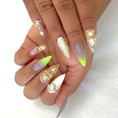 Beautiful Shellac nails Spring 2016