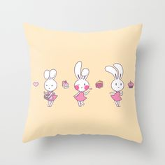 Sugar Bunny Passion - Throw Pillow