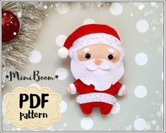 This is a digital tutorial on how to make Santa Claus Christmas ornament from felt Included step by step instructions, pictures and full size pattern pieces. (no need to enlarge or resize). Its completely hand sew and you dont need a sewing machine. THIS IS NOT A FINISHED TOY. THIS IS A
