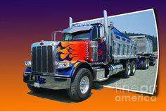 Big Rig Wall Art - Photograph - Out Of The Photo Peterbilt by Randy Harris Dually Trucks, Big Rig Trucks, Rc Trucks, Dump Trucks, Custom Trucks, Lifted Trucks, Snow Plow, Vintage Trucks, Peterbilt