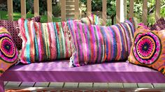 no sew Rag Rug pillows - Mark Montano . You are in the right place about DIY Rug fleece Here we of