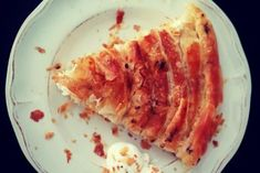 Πίτα τραβηχτή σε τραπεζομάντηλο Cheese Bar, Bacon, Pork, Snacks, Meat, Cooking, Breakfast, Dinners, Corner