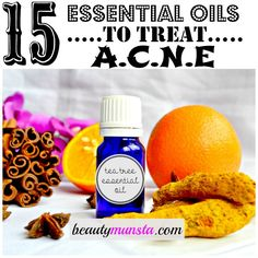 Treat Acne at home with essential oils! Get to know the best essential oils for acne and how to use them for skin, hair, health and much more! This guide will give you a recipe or two on how to make your own essential oil diy's for the home. Essential Oils For Face, Essential Oil Uses, Young Living Essential Oils, Esential Oils, Natural Acne Treatment, Coconut Oil For Acne, Frankincense Essential Oil, Acne Remedies, Natural Remedies
