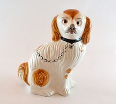 This vintage Staffordshire dog is a classic.