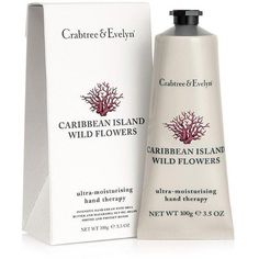 Crabtree & Evelyn Caribbean Island Wild Flowers Hand Therapy 100g (385 MXN) ❤ liked on Polyvore featuring beauty products, bath & body products, body moisturizers and body moisturizer