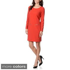 Lennie for Nina Leonard Women's Ponte Shift Dress