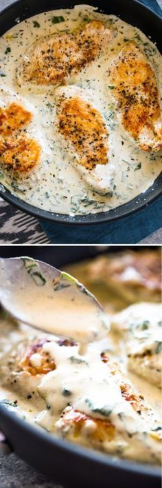 Creamy Parmesan Garlic Chicken – This was a really phenomenal dish. I served it … Creamy Parmesan Garlic Chicken – This was a really phenomenal dish. I served it … , I Love Food, Good Food, Yummy Food, Tasty, Low Carb Meal, Garlic Parmesan Chicken, Parmesan Sauce, Balsamic Chicken, Cooking Recipes