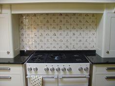 (blue instead of sepia) delft tiles, kitchen Delft Tiles, Fired Earth, Kitchen Wall Tiles, Tile Projects, Aga, Kitchen Appliances, Kitchens, Stove, Google Search